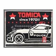 小禮堂 TOMICA多美小汽車 毛巾腳踏墊 浴墊 地墊 踏墊 吸水腳踏墊 45x60cm (黑紅 警車)