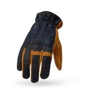 【TORC】美國  HOLLYWOOD 好萊塢手套 牛仔布 針織  山羊皮 短手套 真皮 耐磨