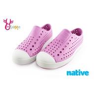 native JEFFERSON 奶油頭鞋 水鞋 休閒洞洞鞋 女鞋 K9428 粉紅 OSOME奧森鞋業