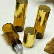 3cc茶色滾珠瓶 百靈油分裝瓶 玻璃滾珠瓶 滾珠空瓶