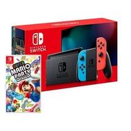 【預購】Nintendo Switch 主機 電光紅藍 (電池加強版)+超級瑪利歐派對亞版中文版