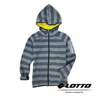 義大利第一品牌-LOTTO樂得 女款保暖升溫刷毛連帽外套 保暖2級 [1248] 灰藍【巷子屋】