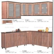 7x5ft Full Set L-Shape Top and Bottom Kitchen Cabinet XL Size/ Kabinet Dapur Bentuk L/ Almari Pinggan Bentuk L