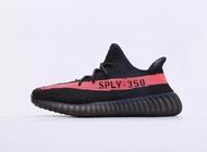 "Adidas Yeezy Boost 350 V2 ""Blcak Red"" รองเท้าผ้าใบ adidas รองเท้าคัชชูดำ"