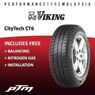 Viking CityTech CT6 Tyre (FREE INSTALLATION) 155/70R12 175/70R13 165/60R13 165/55R14 165/60R14 185/60R14 185/65R14 185/70R14 175/65R14 165/50R15 175/65R15 185/60R15 185/65R15 195/65R15 175/50R15 195/60R15 205/65R15 195/70R14