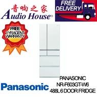 PANASONIC NR-F603GT-W6 488L 6 DOOR FRIDGE *** 1 YEAR PANASONIC WARRANTY *** FREE DELIVERY !!