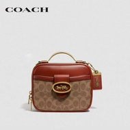 COACH Riley Lunchbox Bag In Signature Canvas CO703   B4NQ4 กระเป๋าสะพายข้าง