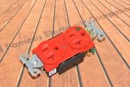 美國 COOPER IG8300RD 125V 20A 紅色 獨立接地 醫療級插座 DUPLEX型 送93101白鐵蓋板