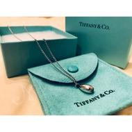 Tiffany & Co 純銀925水滴項鍊-專櫃真品