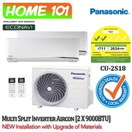Panasonic Dual Split Series Aircon [System 2] Avaliable in CU-2S18 WITH *New Installation with Upgraded Materials Services*