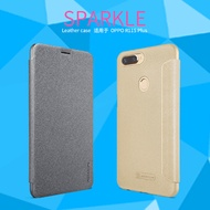 2017 NILLKIN OPPO R11S Plus NEW LEATHER CASE- Sparkle Leather Case