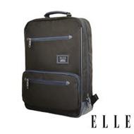 ELLE 城市都會休旅系列 大容量多隔層機能收納13吋筆電休閒手提/後背包-黑 EL83911