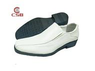 CSB  คัชชูหนังผู้ชายแบบสวม CM500 สีดำ ไซส์ 39-47 รองเท้าทำงาน รองเท้าทางการ