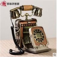 奇斯 創意個性電話機復古座機 家用仿古藝術裝飾時尚造型電話機