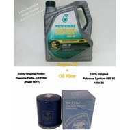 100% Original Petronas Syntium 800 SE 10W-30 Semi-Synthetic Engine Oil 4L+Oil Filter