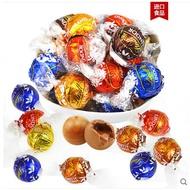 瑞士蓮巧克力軟心球lindor進口軟心巧克力球500g婚慶喜糖散裝零食