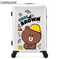 การ์ตูนเด็ก 20  24  26  นิ้วABS + PCกระเป๋าเดินทางรถเข็นกระเป๋าเดินทางเด็กกลิ้งกระเป๋าเดินทางกระเป๋าบนล้อ