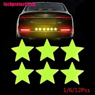 MOTO Reflective Safety Warning Stickers Pentagram Anti-collision Reflective Stickers