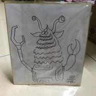 收藏出清 購買前先詳讀 日本設計師 T9G 手繪 簽名板 (非 真頭玩具 labubu Molly 中村萌 )