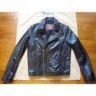 Marlboro Classics MCS近新品原廠頂級羅馬尼亞製黑色仿舊馬皮PERFECTO騎士款皮衣L號(1193)