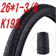 26 * 1-3 / 8 k193 ban basikal tire smooth mountain bike tire 26 inci 26x1-3 / 8 tire LPBH