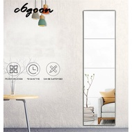 CG 4PCS Removable Dressing Mirror Wall Stickers Full Length Mirror Home Decor