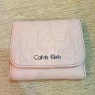 CK Calvin Klein 二手全新 皮夾 女用皮夾 短夾