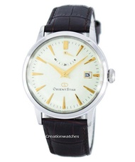 Orient Star Classic Automatic Power Reserve Men's Brown Leather Strap Watch SAF02005S0