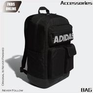 Adidas 愛迪達 CL 3D POCKETS經典排字3D LOGO雙肩後背包 大背包 後背包 ED6878 廠商直送