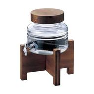 【日本ADERIA】水龍頭燒酌壺2000ml(含木架)日本製造《拾光玻璃》水壺