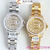 【海外代購】ROLEX 勞力士 GMT陶瓷圈 男士手錶 勞力士格林尼治型II 腕錶 機械錶 滿天星方鑽  鑲鋯石8^