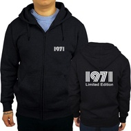 【In Stock】1971 Limited Edition Gold Text Men Hoodies