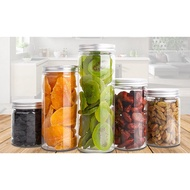 直徑6.5(整箱)銀鋁蓋密封罐 塑膠罐 透明罐 收納罐