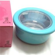 菲姐 304不鏽鋼 多用途不鏽鋼冷熱保溫碗 隔熱碗 便當盒 藍色  藍色全新