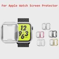5สีสำหรับแอ็ปเปิ้ลนาฬิกากรณี44มม.40มม.IWatch 42มม.38มม.หน้าจอ Protector + อุปกรณ์เสริมกันชนสำหรับ Applewatch Series 5 4 3 SE 6