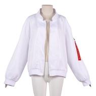 Fastest▩Tokyo Revengers Hanemiya Kazutora Cosplay Costumes White Coat Valhalla Uniform Baseball Coat