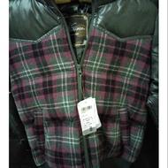 全新維多利亞粉紅黑格紋羽絨外套s號可面交百搭款冬天必備