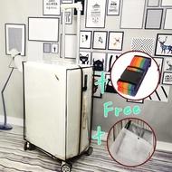 (ฟรีสายคาด)ผ้าคลุมกระเป๋าแบบใส 30 นิ้ว ขนาด[53x32x64cm.] PVCใสคลุมกระเป๋า พลาสติกคลุมกระเป๋าเดินทางล้อลาก