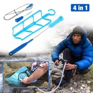 Hydration Bladder Cleaning Kit Water Bladder Cleaning Brush Kit Water Bladder Cleaning Kit Universal Bladders Cleaning Kit Hydration Bladder Tube Brush Cleaning Kit Drying Collapsible for Bladder Frame Cleaning Brush Kit for Water Bladder