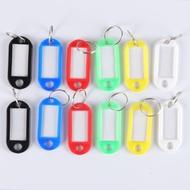 10/50 PCSแบบพกพาKey Tagsแหวนพวงกุญแจกุญแจพลาสติกป้ายIDกระเป๋าเดินทางชื่อ: ตกแต่งบ้านTravel Arrangementสีสุ่ม