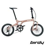 【Birdy】New BirdyⅢ Standard Disc 9SP 9速18吋碟煞前後避震折疊車-消光卡其棕(鳥車)