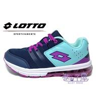 LOTTO樂得-義大利第一品牌 女款/大童SWIFT RUN抗菌氣墊運動跑鞋 [0017] 深藍/紫【巷子屋】