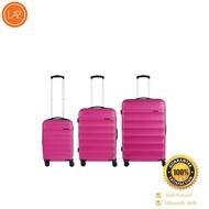 POLO TRAVEL CLUBเซตกระเป๋าเดินทาง รุ่น OC502 ขนาด 20 24 28 นิ้ว สีชมพู ของแท้