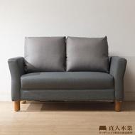 【直人木業】ITALY防潑水/防污貓抓布高椅背兩人沙發