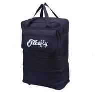 กระเป๋าเดินทางแบบพับเก็บได้ ประหยัดพื้นที่มาก มีล้อไว้ลาก   สามารถถือหรือสะพายได้  สีดำ