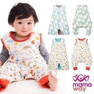 【mamaway 媽媽餵】調溫抗菌嬰兒睡袋-防踢被-2入(2款4色)