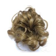 擬真髮之捲式假髮彈性髮圈.自然造型.馬尾好幫手-淺黃.淺咖啡.黑橘.黑白3色