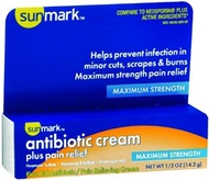 [USA Shipping] Sunmark Antibiotic Cream Plus Pain Relief - 0.5 oz, Pack of 5