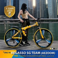 🇸🇬 Begasso Branded - Foldable Mountain Bike w Disc Brake 21 Speed [26/24/20 Inch] [Free Assembly]