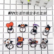Kpop BTS Album BT21 Bangtan Boys K-pop Case Halloween Phone Ring Finger Stand Holder Phone Rings CHIMMY SHOOKY COOKY RJ TATA KOYA MANG LU1126